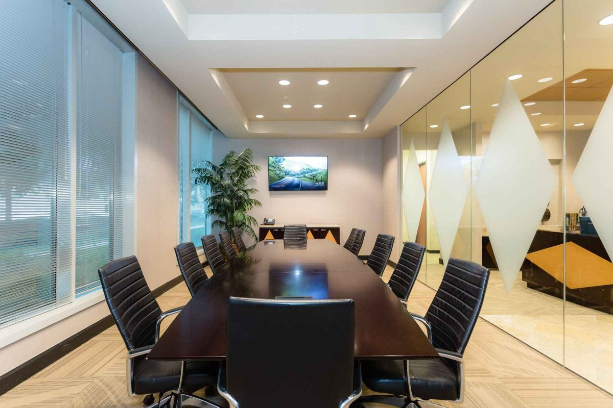 Large Conference Room for Rent at NorthPoint Executive Suites in Alpharetta