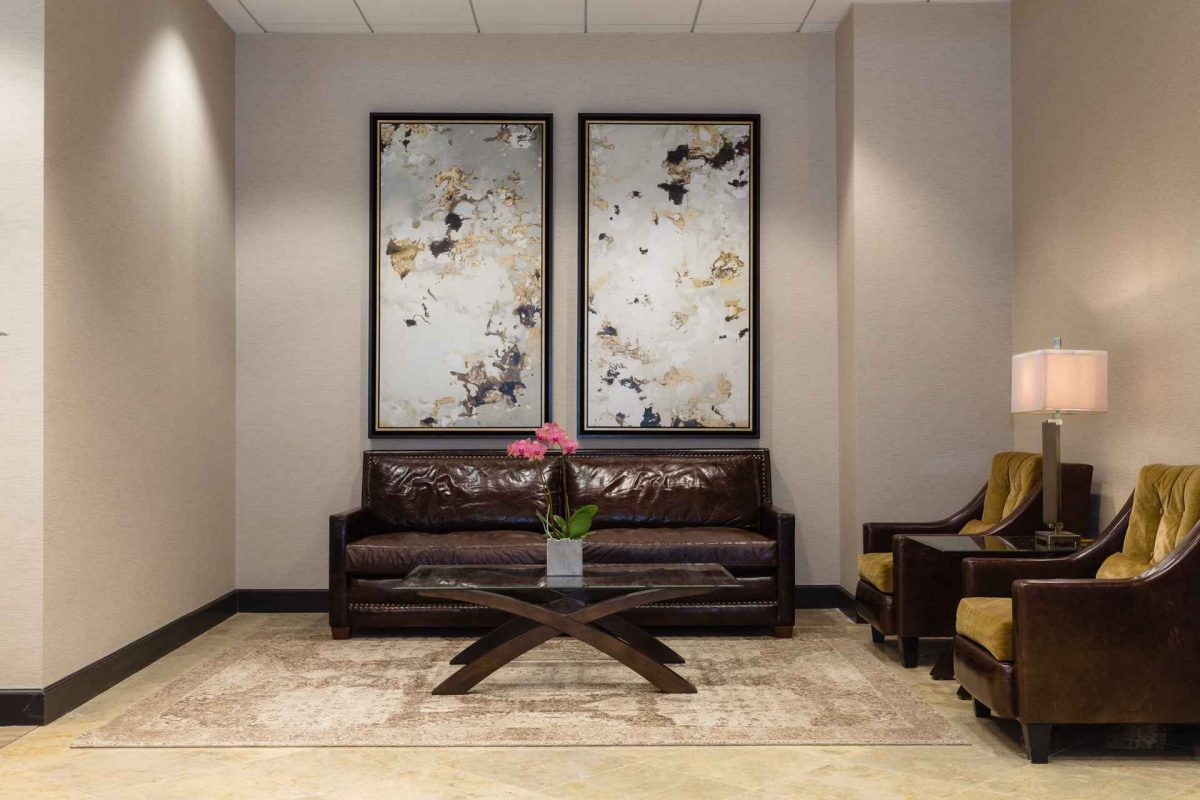 Lobby at NorthPoint Executive Suites in Alpharetta