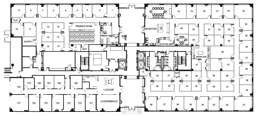 Floor Plan at NorthPoint Executive Suites in Alpharetta