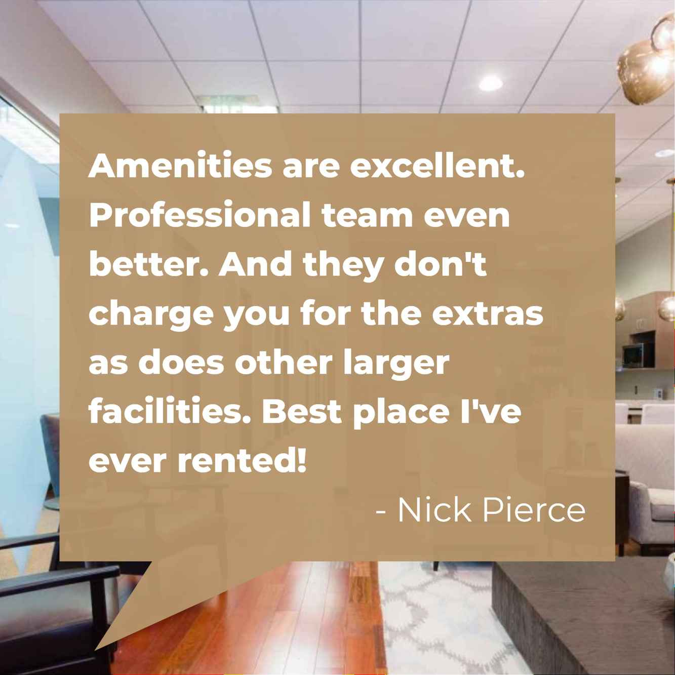 Let Nick Pierce tell you why NorthPoint Executive Suites is the best office solution.