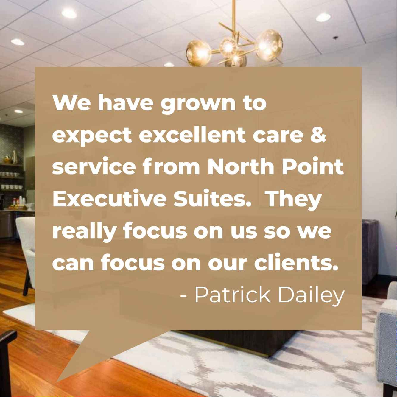Customer service is a central focus of the team at NorthPoint Executive Suites.