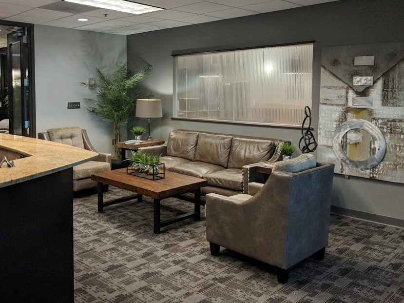A look at a waiting area at NorthPoint Executive Suites in Duluth