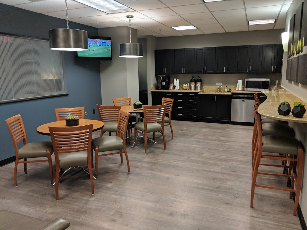 The break room at NorthPoint Executive Suites in Duluth