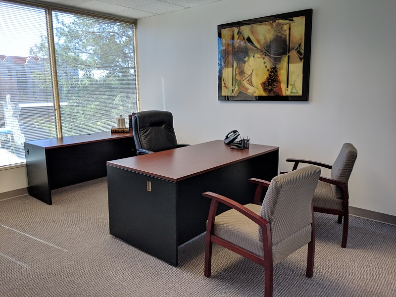 An available office at NorthPoint Executive Suites in Duluth
