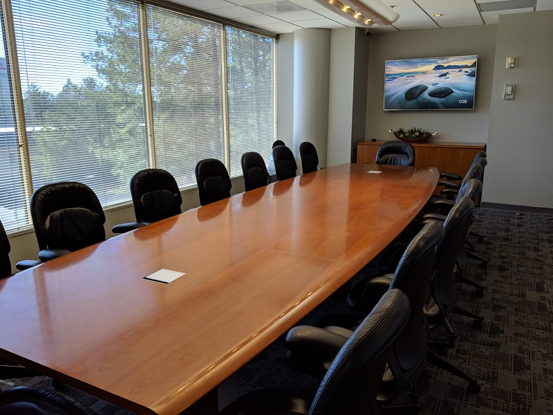 A large meeting room at NorthPoint Executive Suites in Duluth