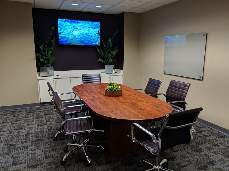 A meeting room for rent at NorthPoint Executive Suites in Duluth