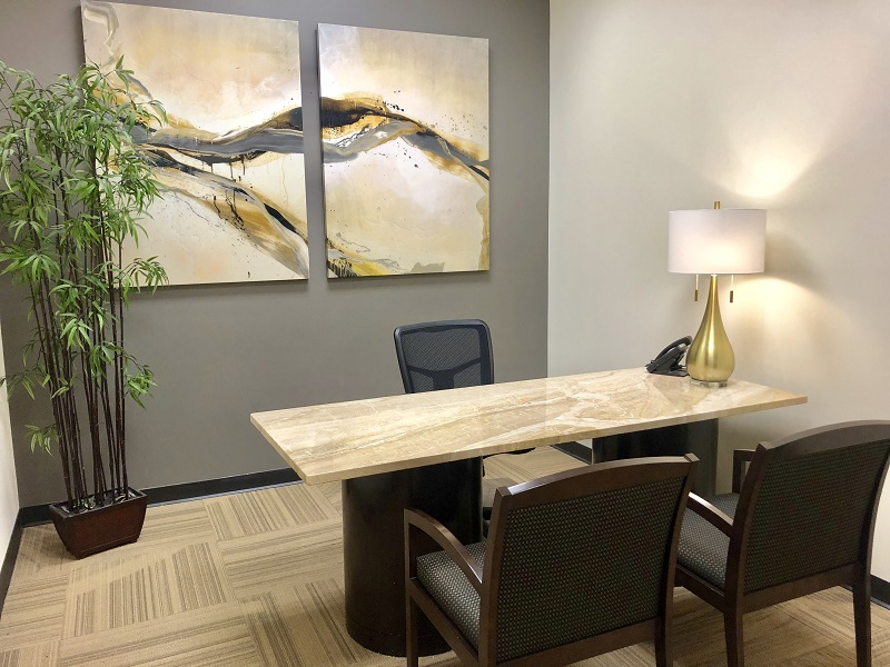 A day office at NorthPoint Executive Suites in Alpharetta